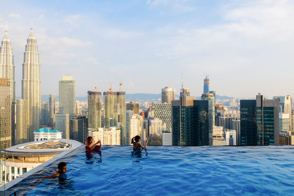 A view from the FACE suites pool in Kuala Lumpur - Best Hotels in Kuala Lumpur for Amazing Views