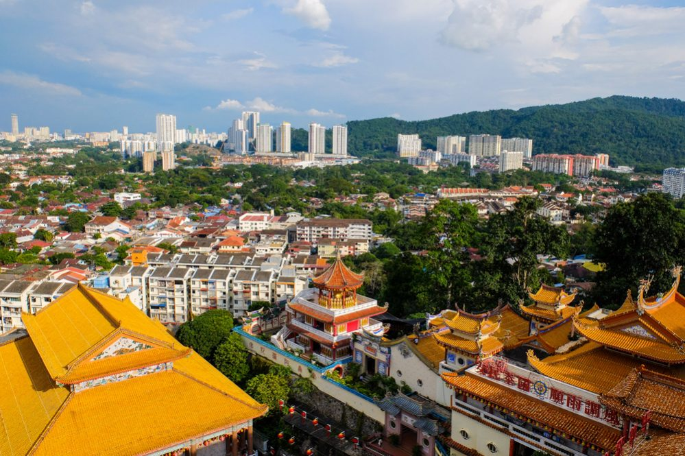 A view of Penang from the Kek Lok Si temple