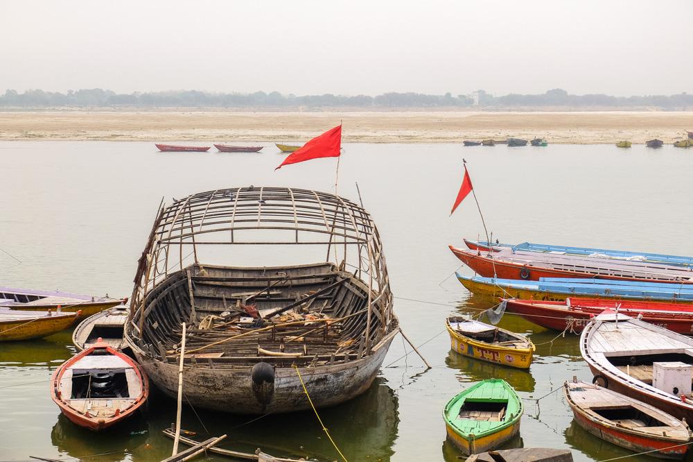 Boats in Varanasi - 4 weeks in India