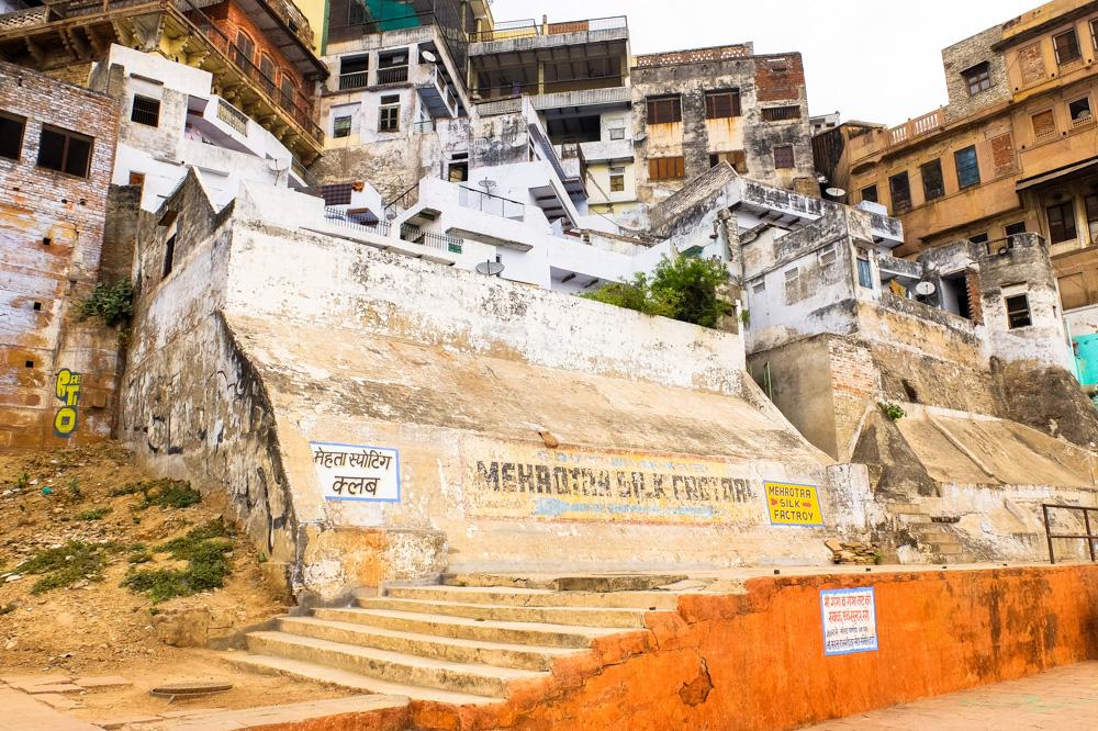 Coastline houses in Varanasi - 4 weeks in India