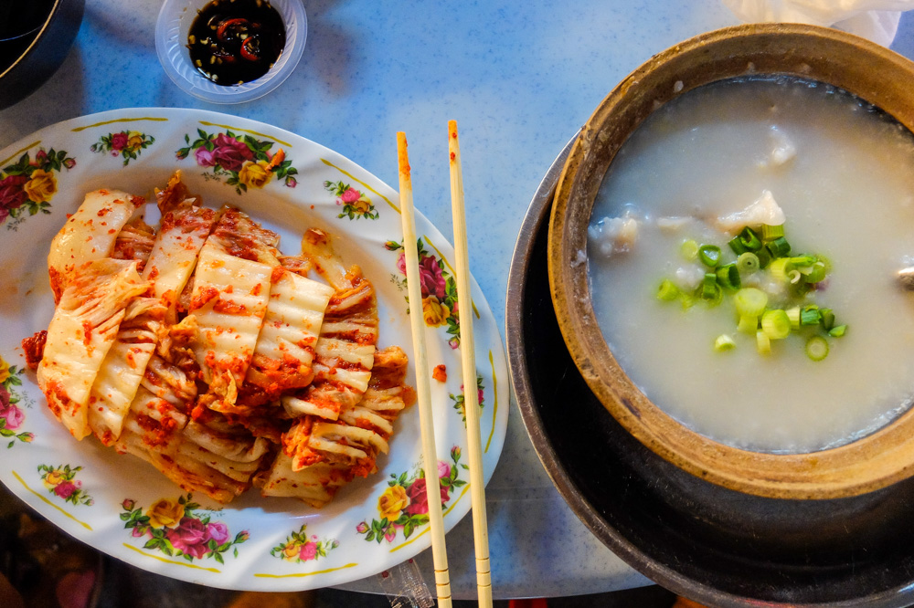 Frog claypot porridge on the right - Best Things to Do in Penang, Malaysia