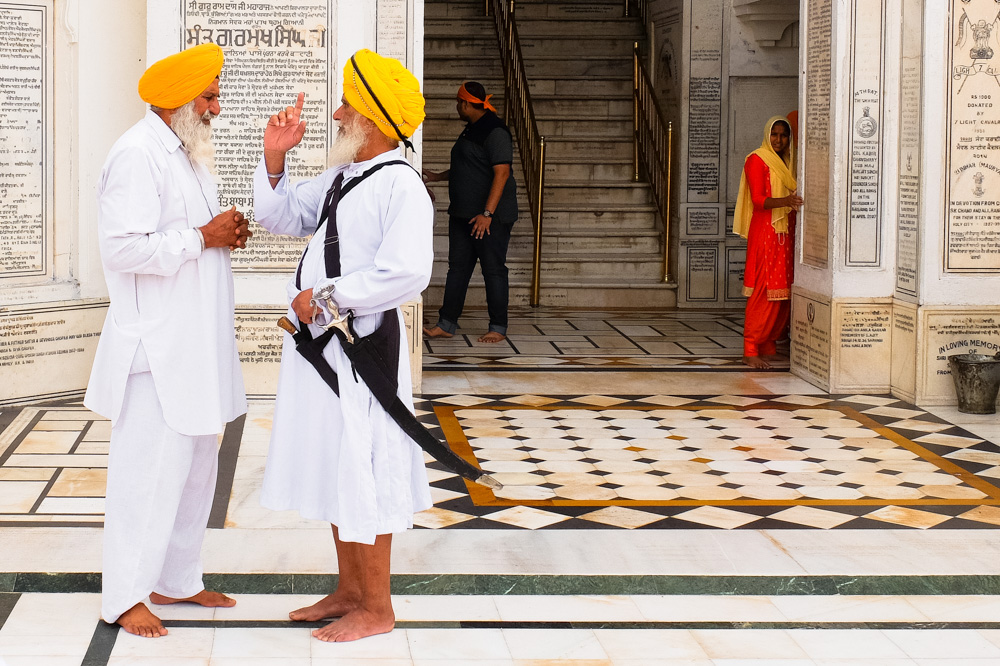 Guards in Golden Temple, Amritsar - 4 Weeks in India