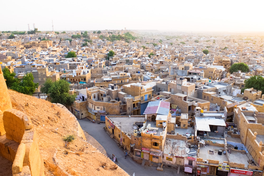 Jaisalmer as seen from the fort - 4 Weeks in India