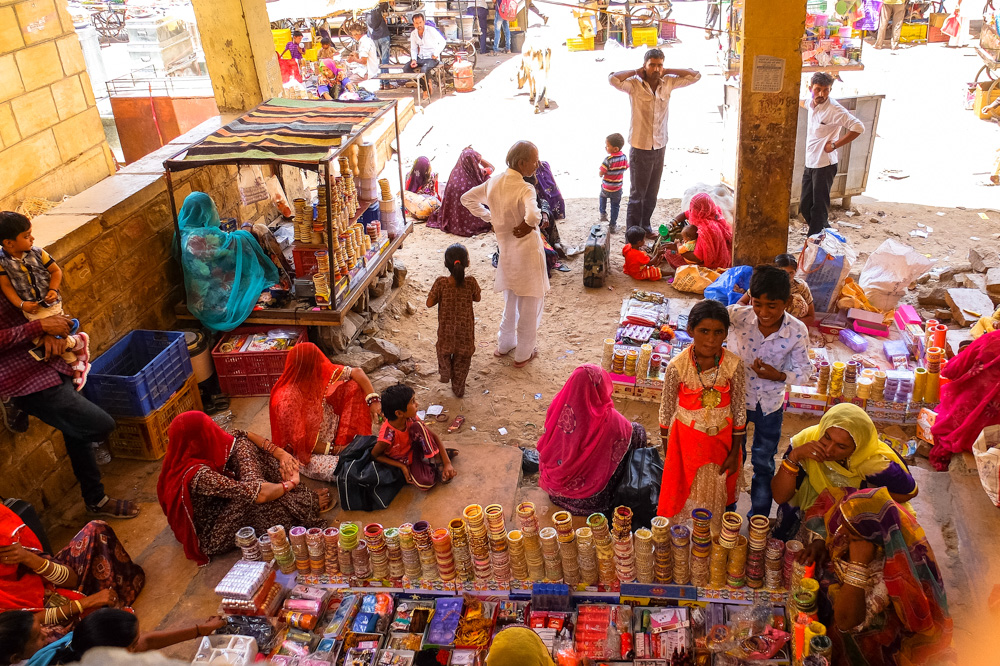 Market in Jaisalmer - 4 Weeks in India