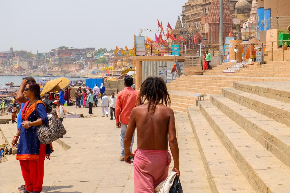People on the ghats in Varanasi - 4 weeks in India