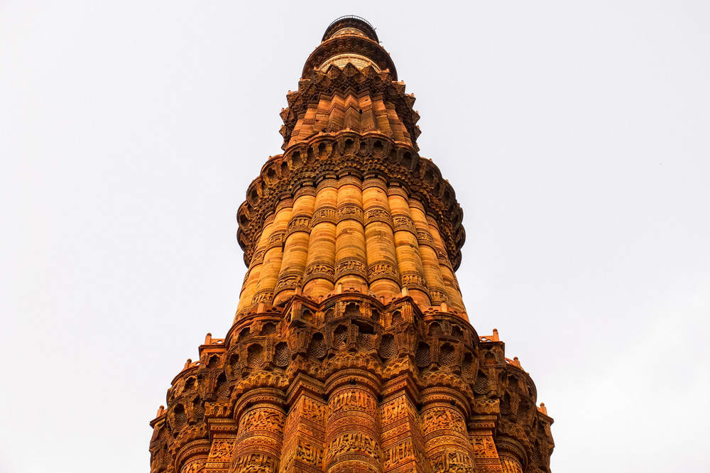 Qutub minar up close - 4 weeks in India