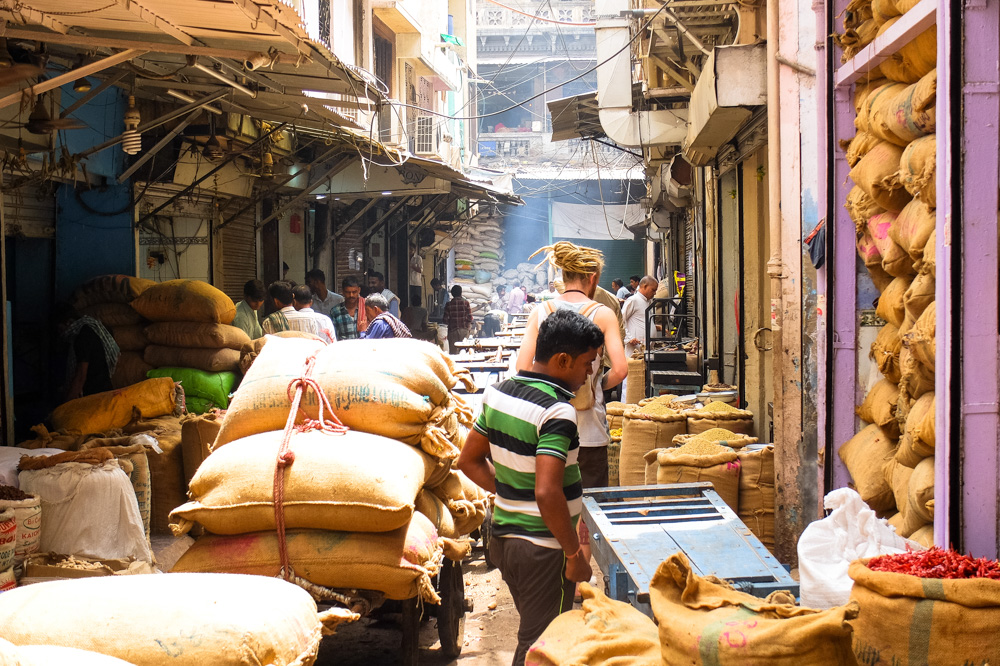 Spice market of Old Delhi - 4 weeks in India