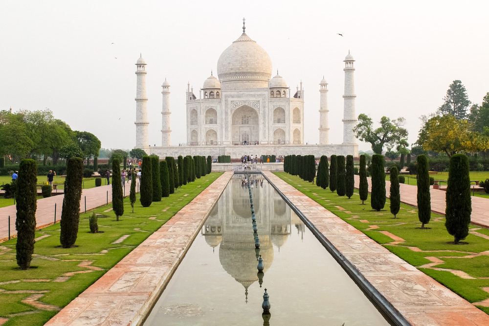 Taj Mahal shortly after sunrise - 4 weeks in India