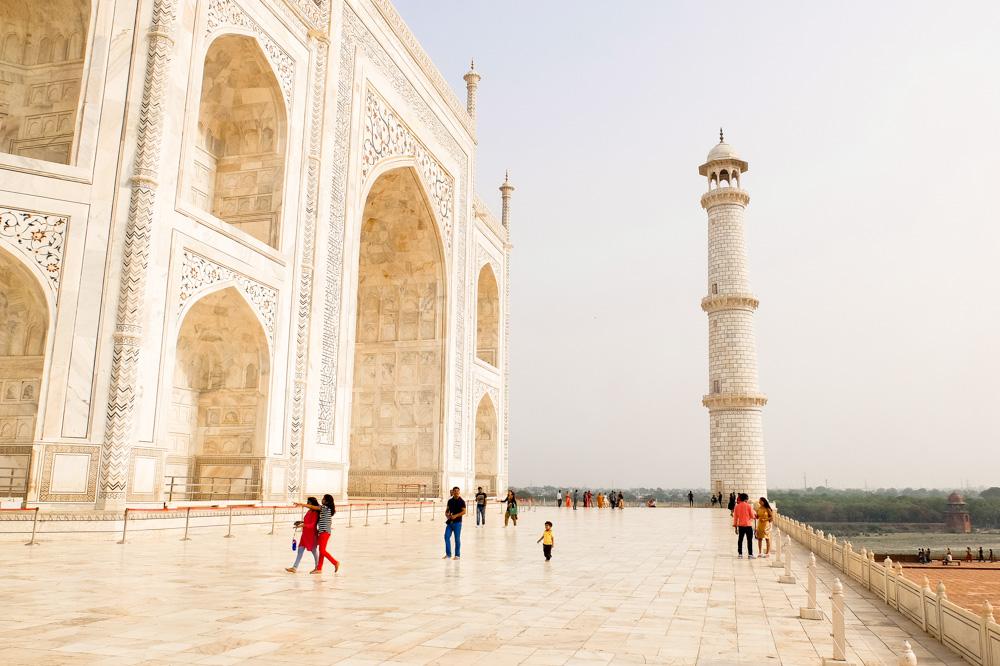 Taj Mahal up close - 4 weeks in India