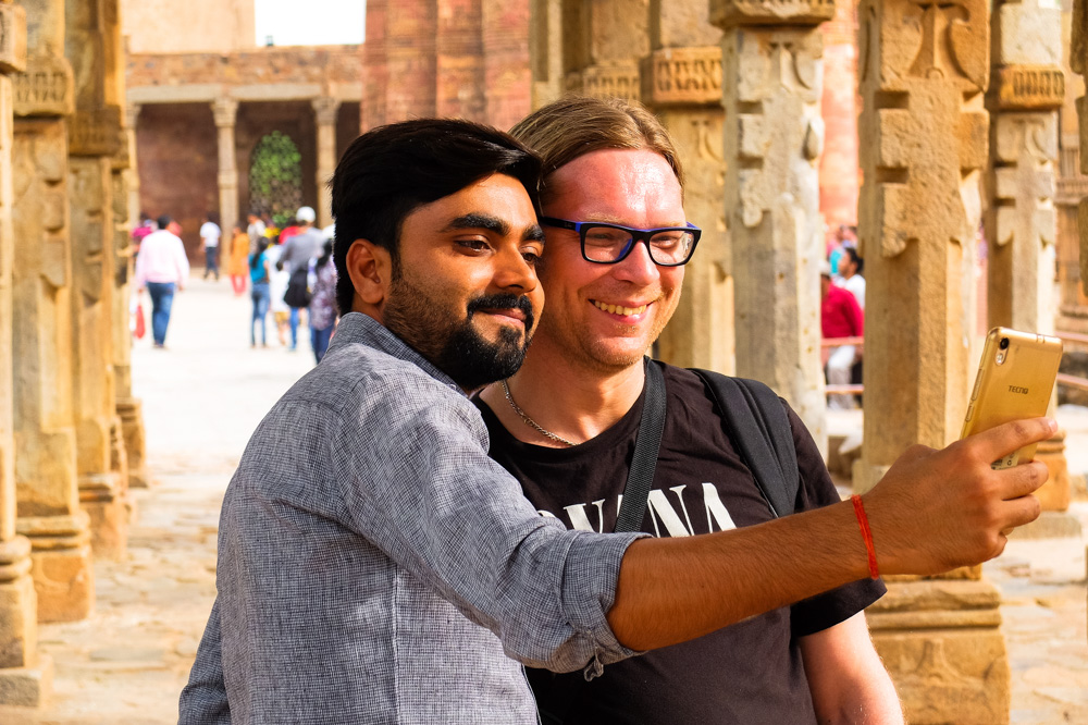Taking a selfie with Indian guy - 4 weeks in India