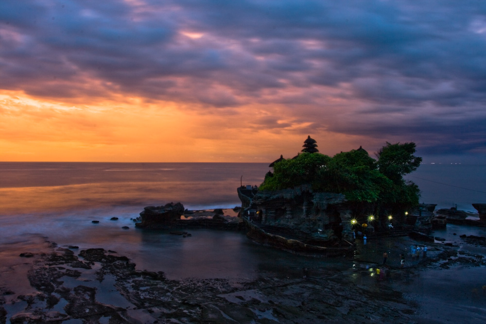 Tanah Lot Temple at sunset - Best Things to Do in Bali