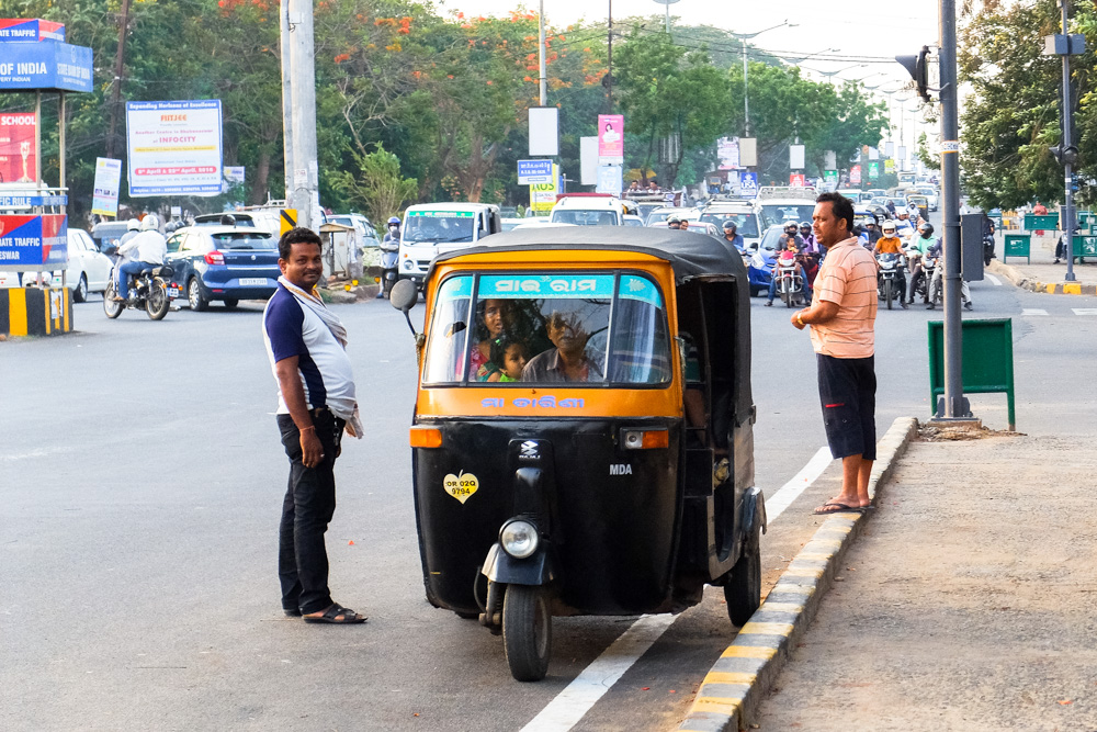 Tuktuk in Bhubaneshwar - 4 weeks in India