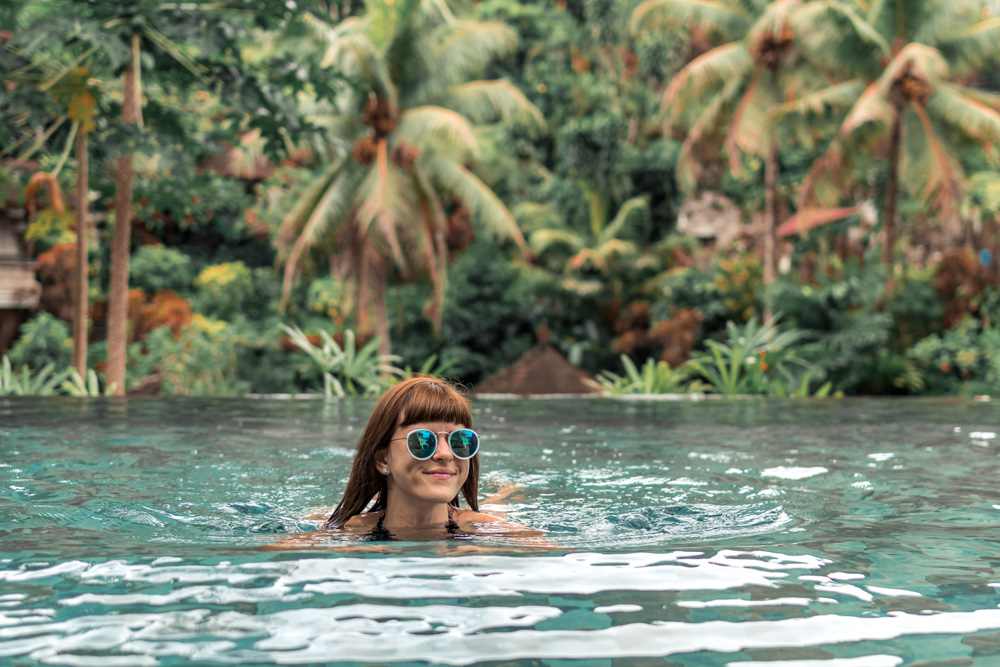 Woman in the pool - Best Things to Do in Bali