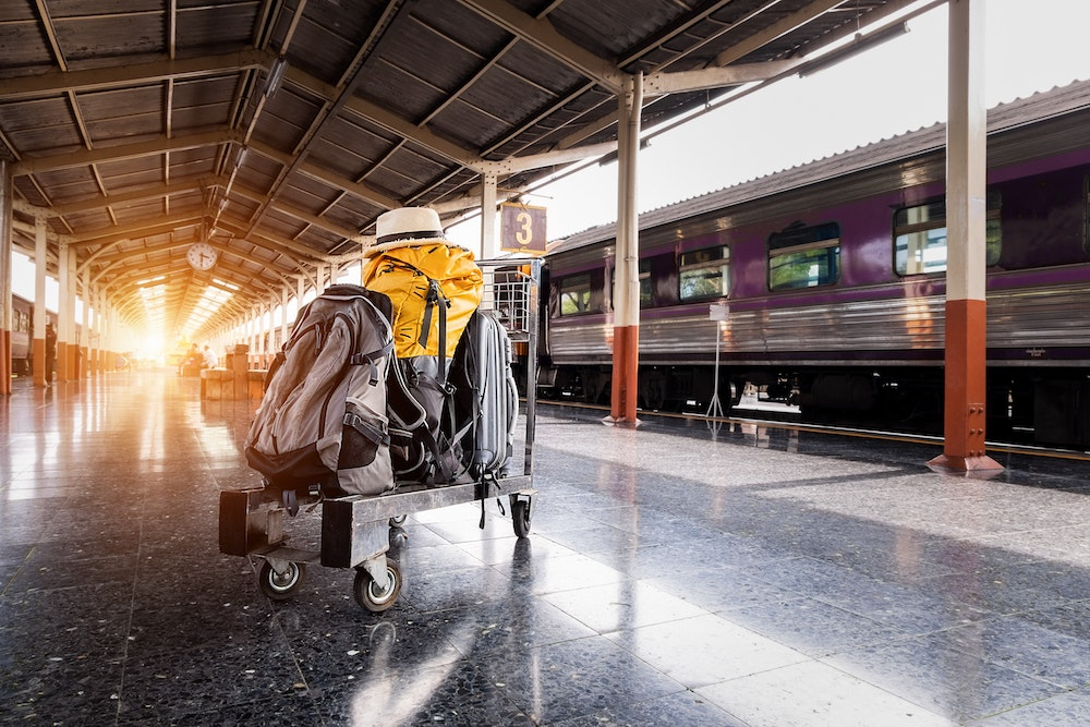 Bags and Suitcases on Trolley - Best Hardside Luggage