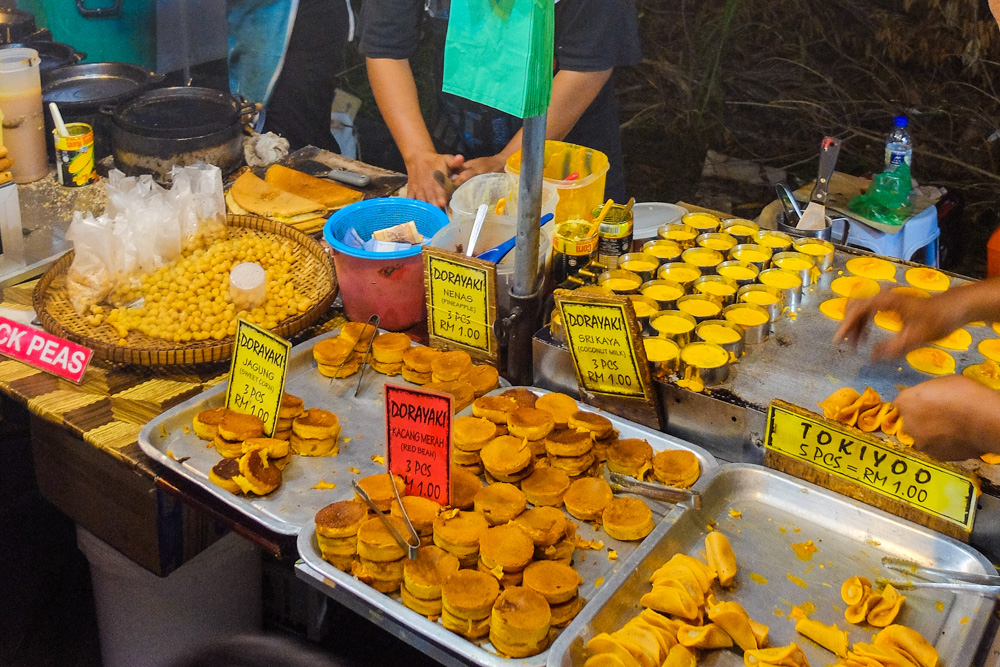 Deserts in the night market, in Malaysia - Best Things to Do in Penang, Malaysia