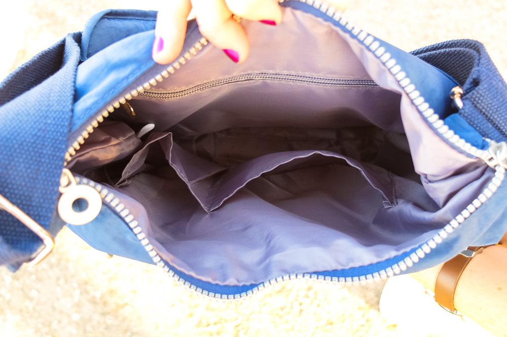 Interior pockets of Neatpack crossbody bag - NeatPack Crossbody Bag Review