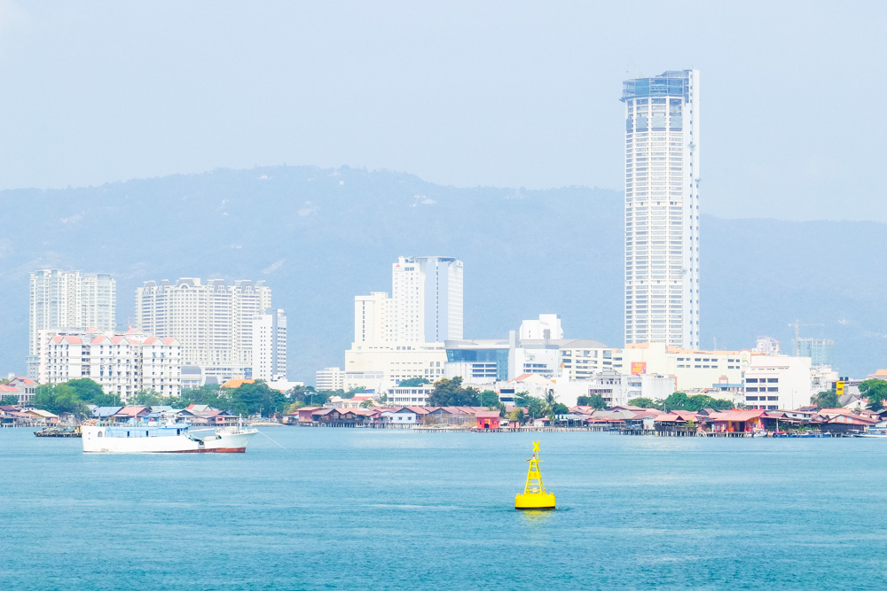 Penang as seen from the sea - Best Things to Do in Penang, Malaysia