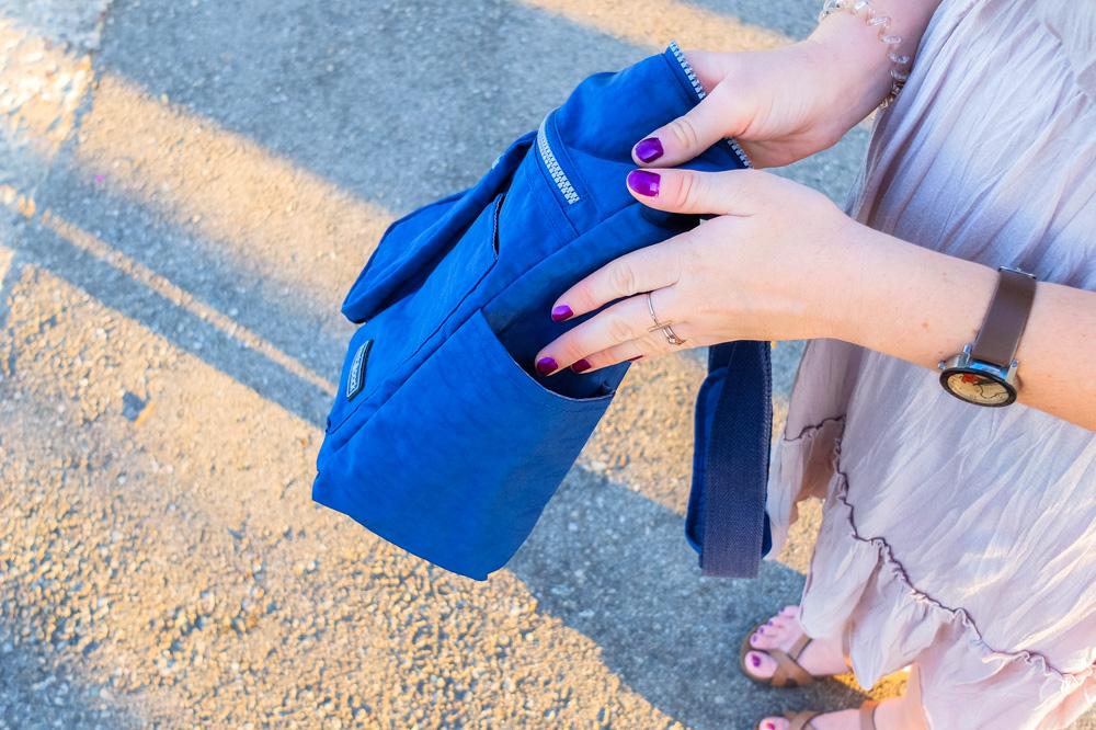 Side pocket of Neatpack crossbody bag - NeatPack Crossbody Bag Review
