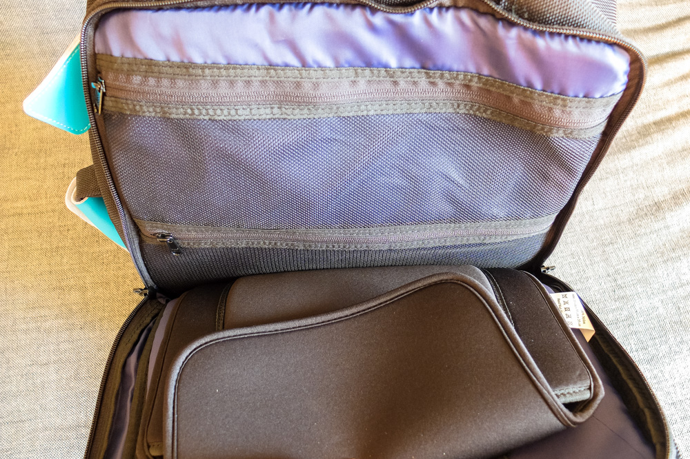 Standard's Carry-on Backpack - Pockets of the laptop compartment