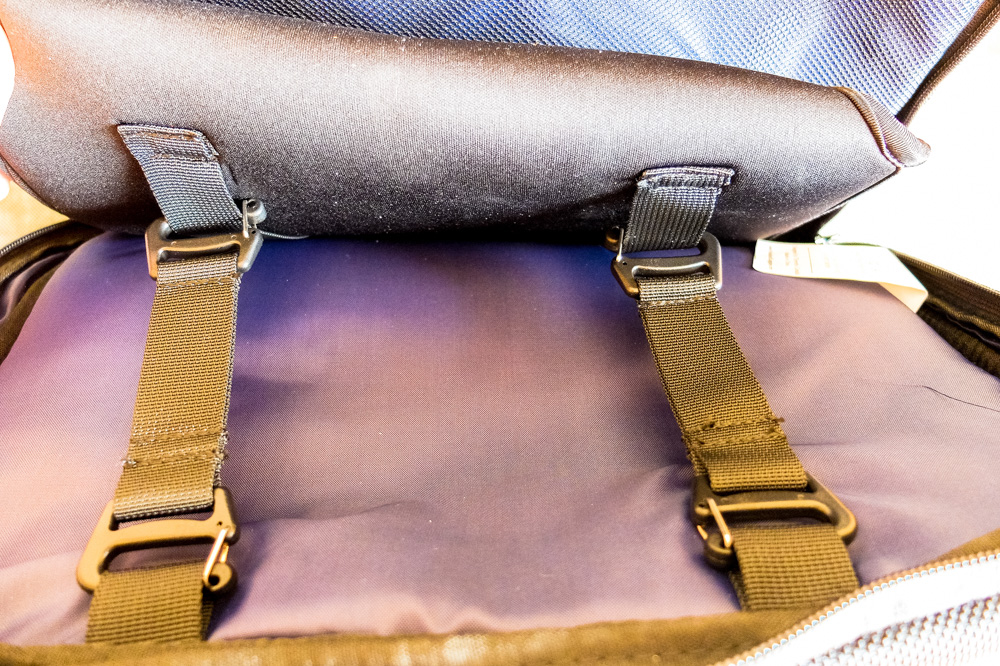 Standard's Carry-on Backpack - This is how padded laptop sleeve is attached to the backpack
