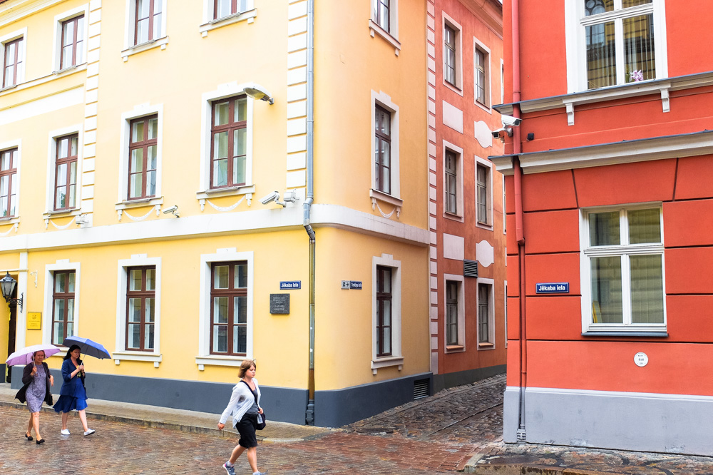 Colorful houses in the Old Town of Riga, Latvia