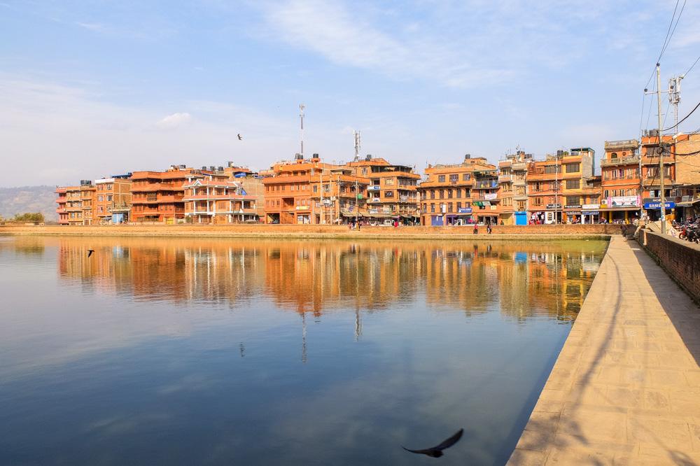 A lake in Bhaktapur, Nepal