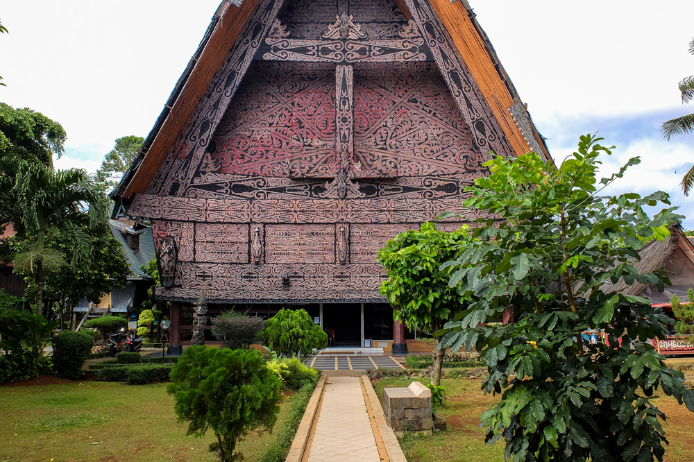 One of the traditional houses in Taman Mini Indonesia park in Jakarta, Indonesia