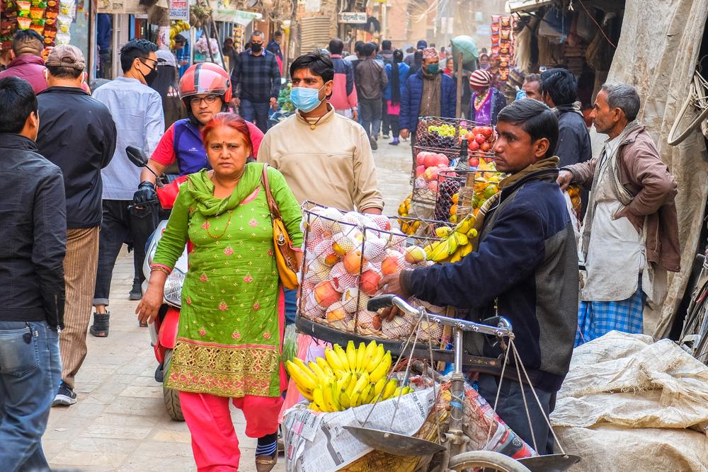 People in Thamel, Kathmandu, Nepal