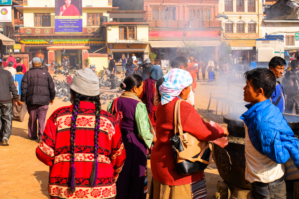 People near Boudhanath