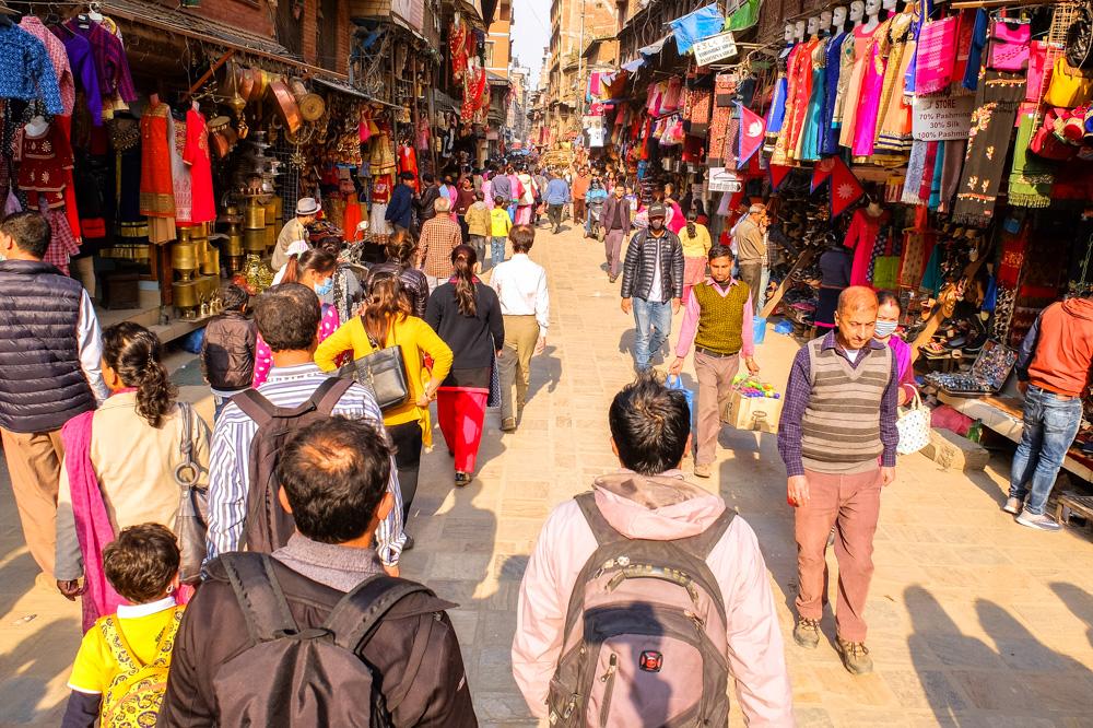 Street in Thamel, Kathmandu