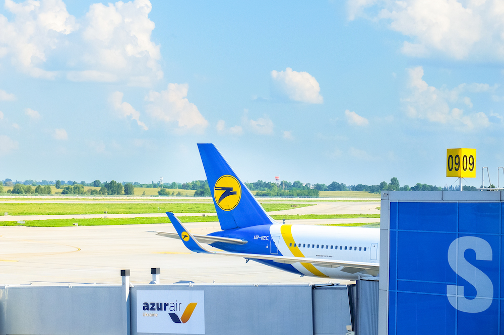 A plane in Boryspil International Airport, Kiev