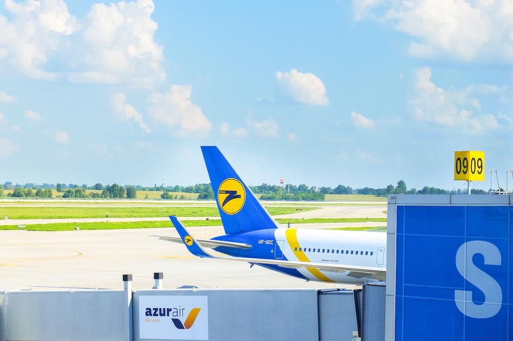 A plane in Boryspil International Airport, Kiev