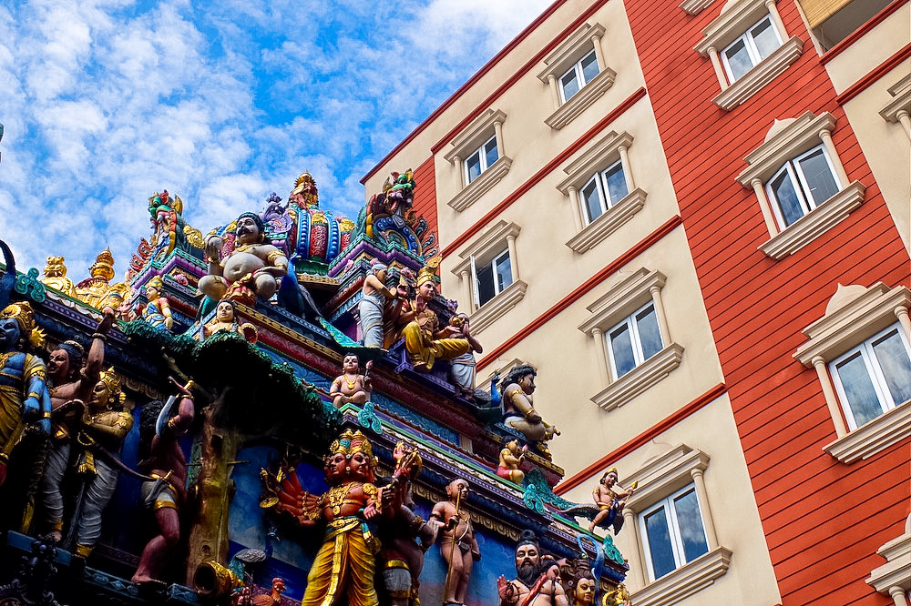 A temple in Little India, Singapore