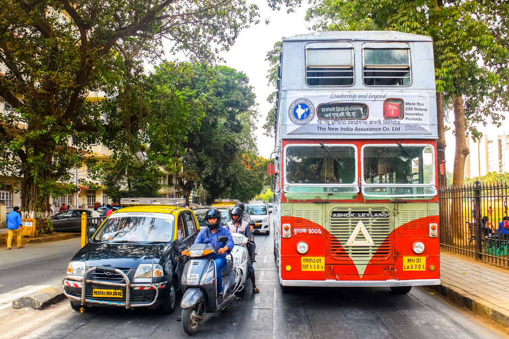 Double decker bus in Mumbai, India - Best Things to Do in Mumbai