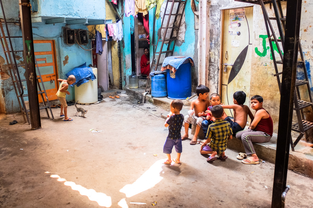 Inside the Dharavi Slum, Mumbai