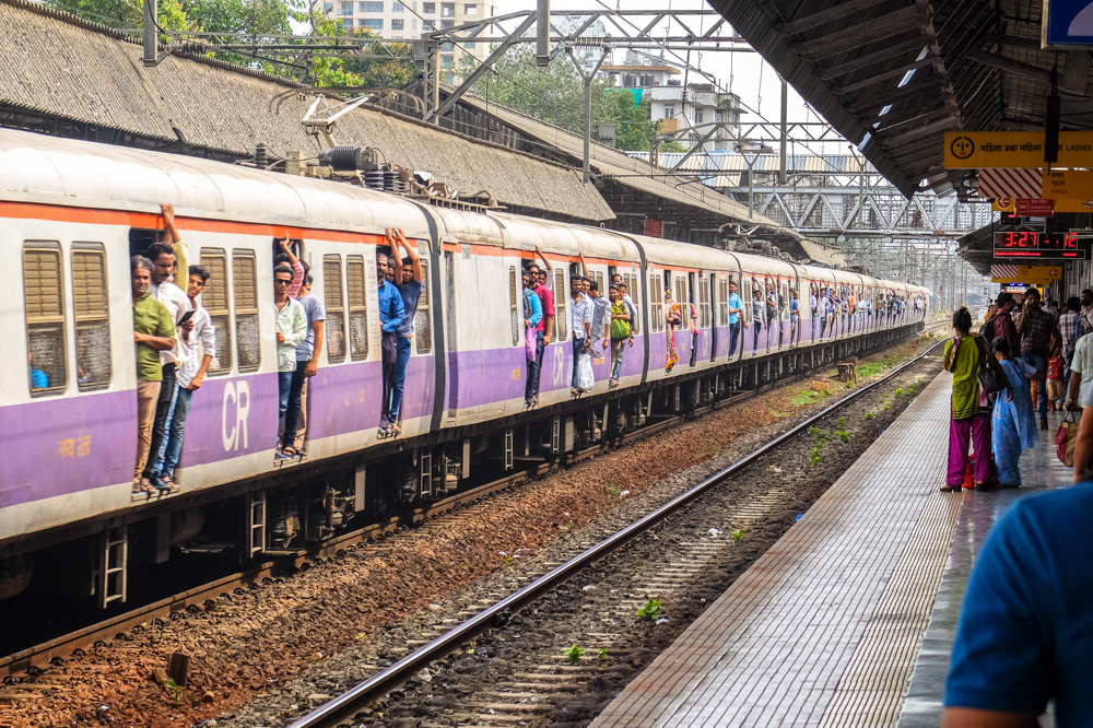 Local train in Mumbai