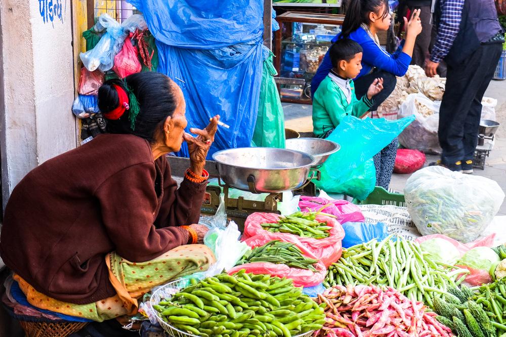 Street seller in Kathmandu