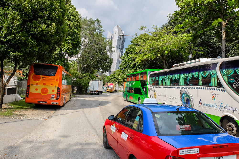 Taxis and buses in Kuala Lumpur