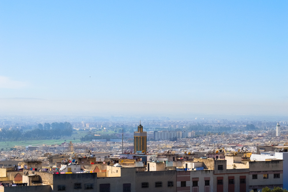 A view of Fez from a hill
