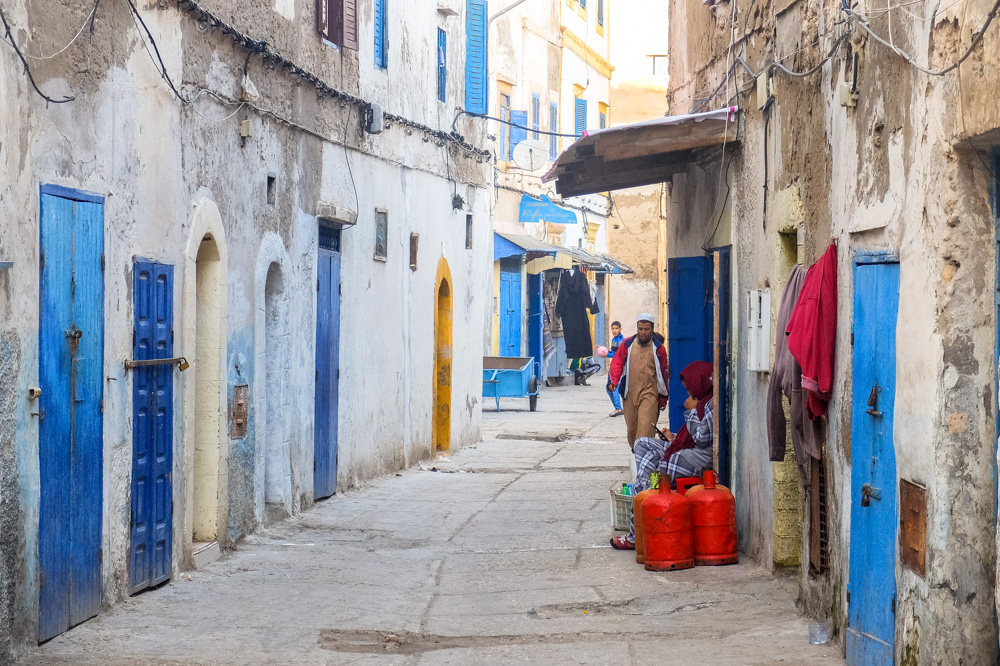 In the old town of Essaouira