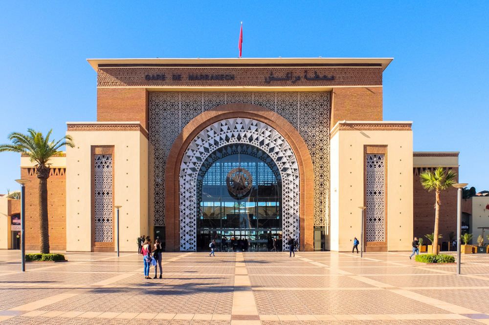 Marrakesh railway station - Morocco itinerary