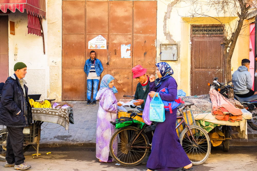 People in Fez, Morocco