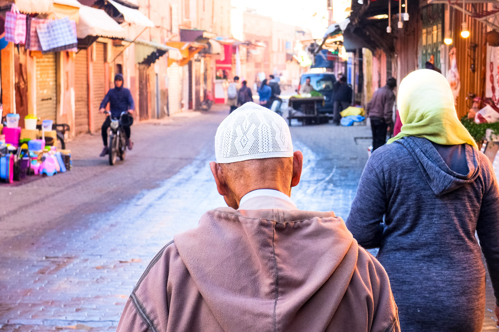 Street in Marrakesh - Morocco itinerary