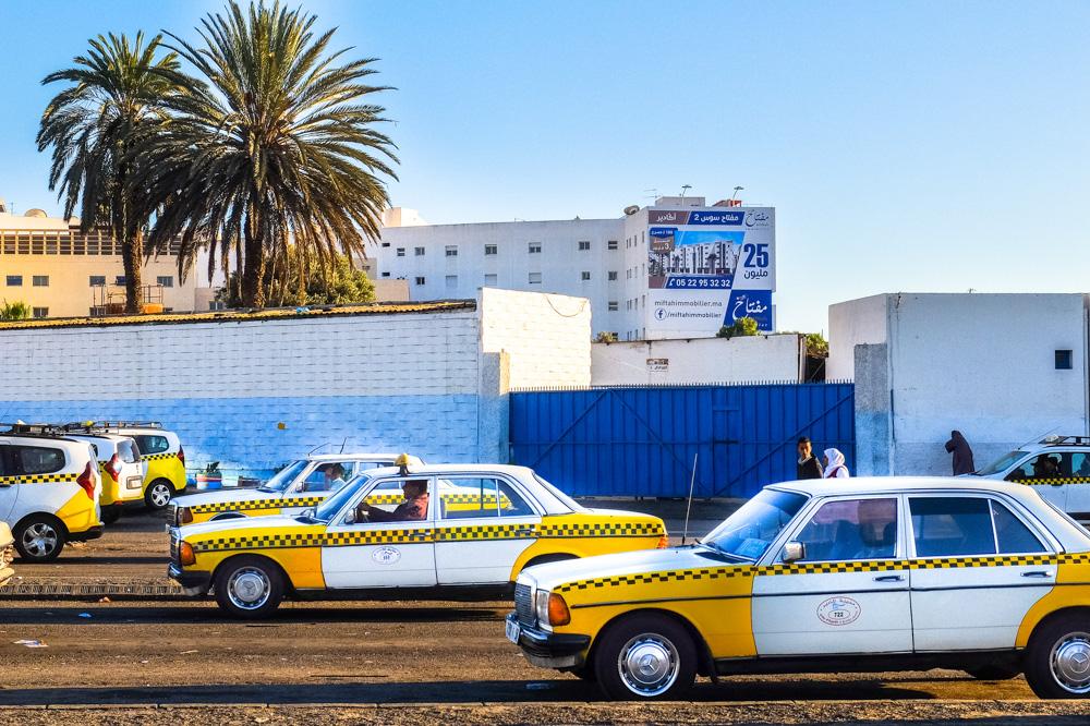 Taxis in Agadir, Morocco