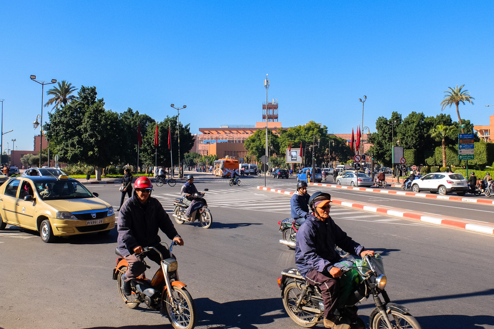 Traffic in Marrakesh, Morocco