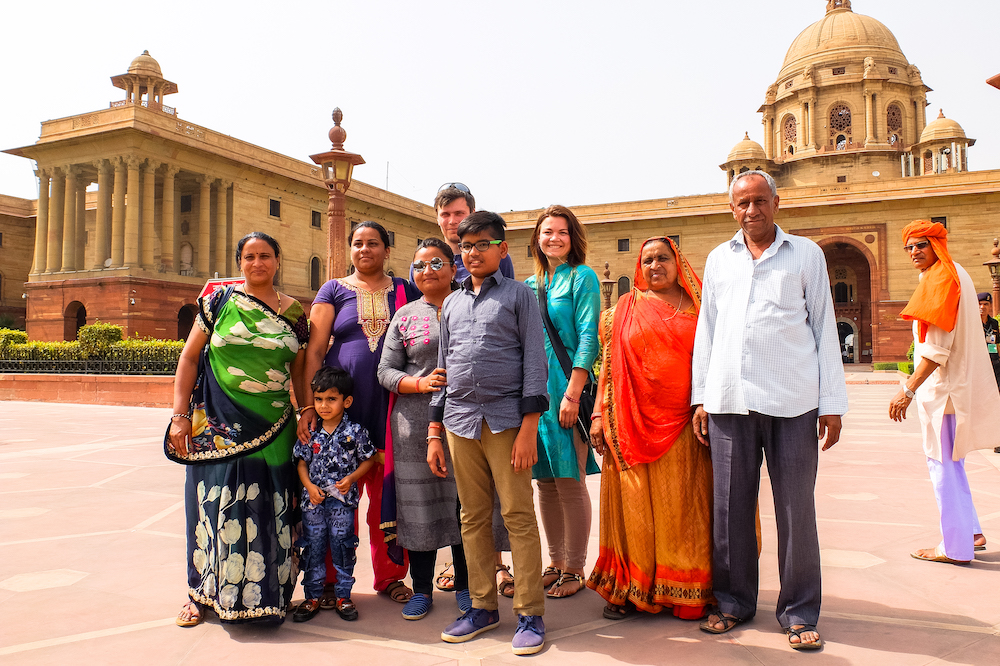A group of Indian tourists