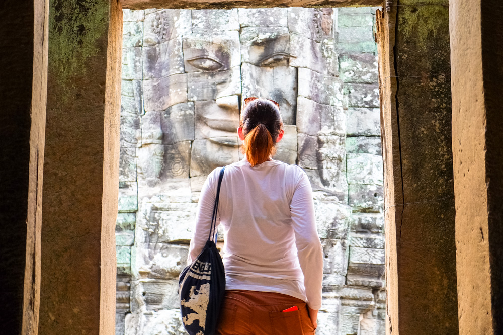 A girl in a temple - Best travel tips