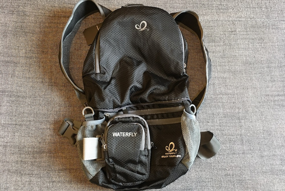 The WaterFly Backpack with the Arm Bag