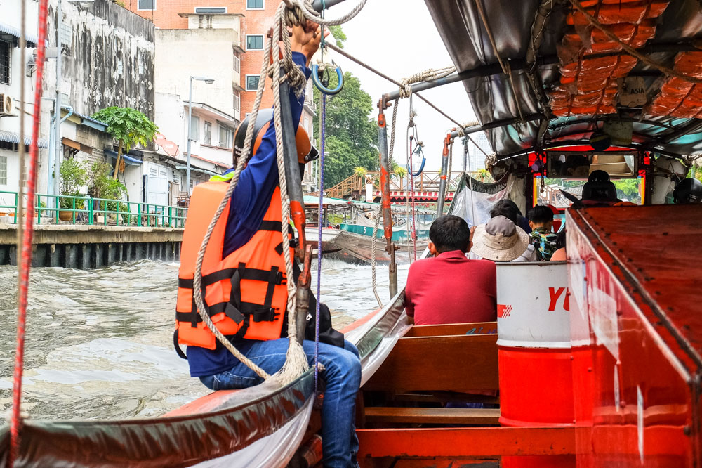 Canal boat in Bangkok, Thailand