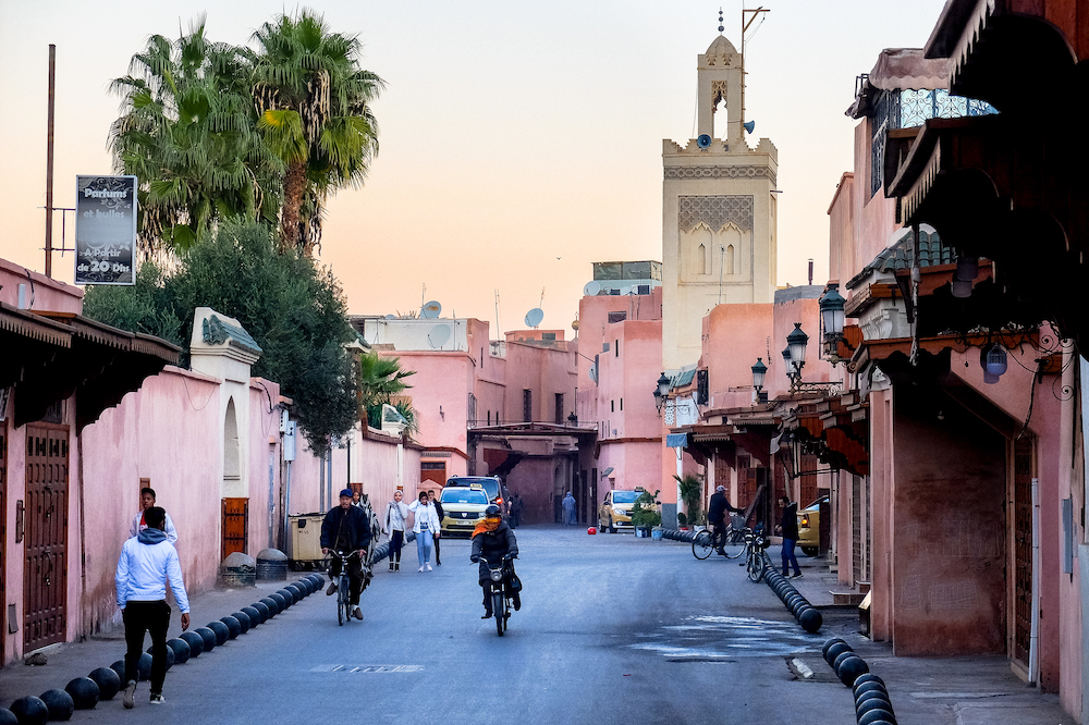 A street in Marrakesh, Morocco